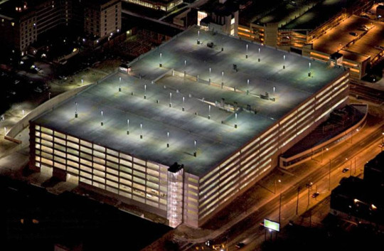 89th Street Garage and Service Center - Cleveland, OH - 200,000-square-foot service center which has 4,100 parking spaces and tunnels that house underground automated guided vehicles