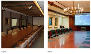 Board Room - before and after