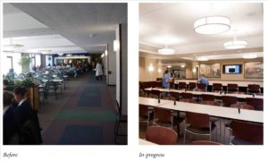 Cafeteria - before and after