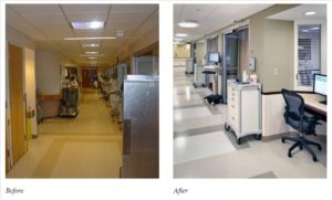 ICU - before & after