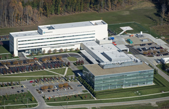 Avon, OH - 220,000 sf, 5-story facility offering 2 floors of inpatient services, 3 floors of inpatient beds (114 beds), 12 ICU rooms. Includes renovations/modifications to existing facility for ED, OR Suite, Imaging Suite and public circulation corridors and walkways.
