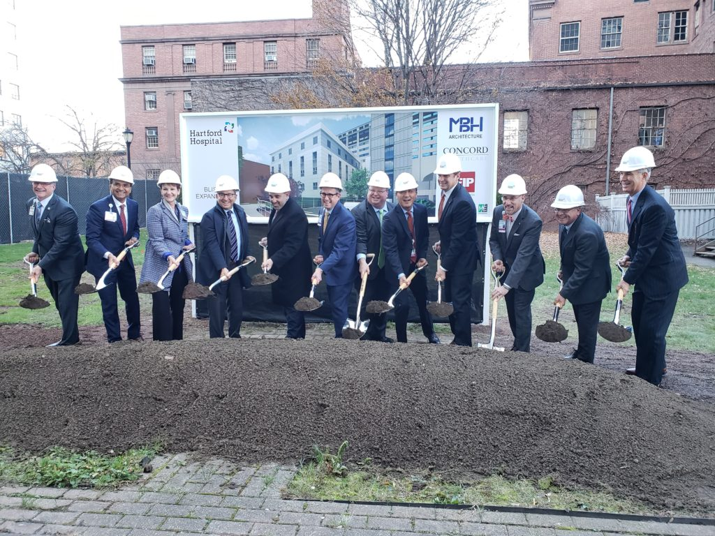 Groundbreaking for Hartford Hospital Bliss Expansion